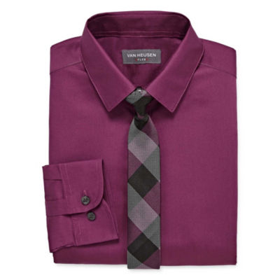 Van Heusen Shirt + Tie Set Boys 8-20 Regular & Husky