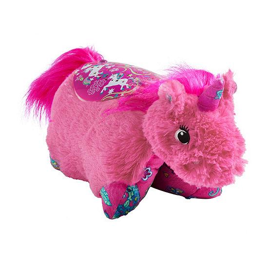 Pillow Pets Sleeptime Lites Colorful Pink Unicorn Plush Night Light