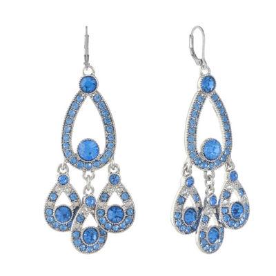 Monet Jewelry Blue Chandelier Earrings