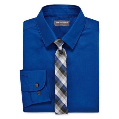 Van Heusen Shirt + Tie Set Boys 4-20 Regular & Husky