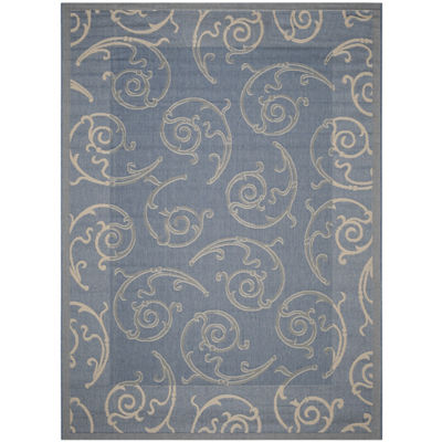 Safavieh Courtyard Collection Torvald Oriental Indoor/Outdoor Area Rug
