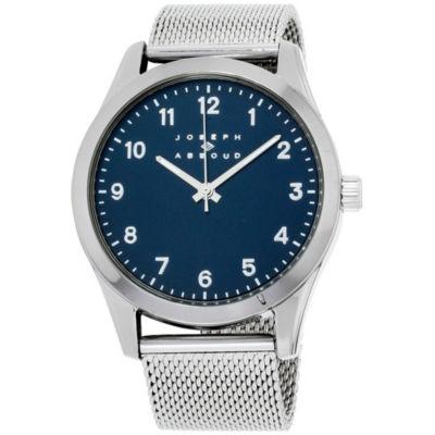 Joseph Abboud Mens Silver Tone Strap Watch-Ja3202s648-102