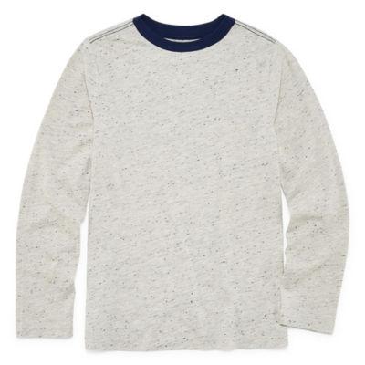 Peyton & Parker Long Sleeve Crew Neck T-Shirt Boys 6-20