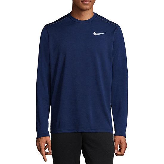 Nike Mens Crew Neck Long Sleeve Moisture Wicking T-Shirt