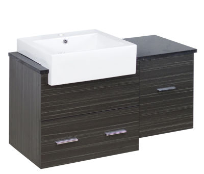36.75-in. W 18-in. D Modern Wall Mount Plywood-Melamine Vanity Base Set Only In Dawn Grey