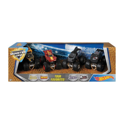Hot Wheels Monster Jam Favorites 4 pack
