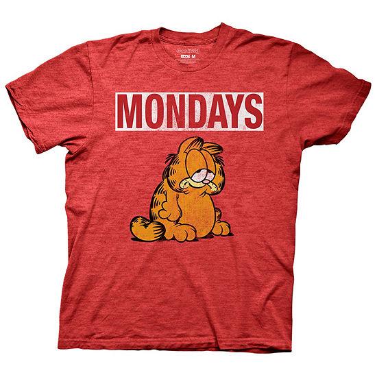 Mens Garfield Mondays Graphic T-Shirt