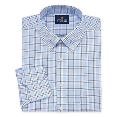 Stafford Executive Non-Iron Cotton Pinpoint Oxford Big and Tall Long-Sleeve Dress Shirt