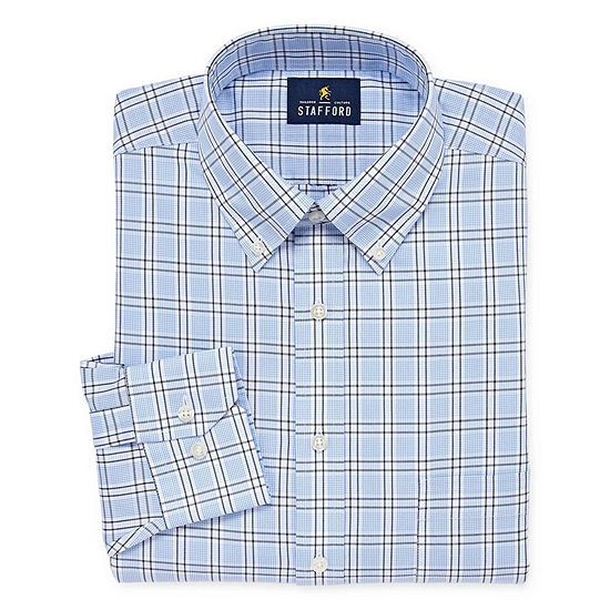 Stafford Executive Non Iron Cotton Pinpoint Oxford Long Sleeve Dress Shirt Big And Tall