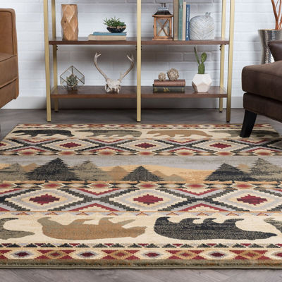Tayse Homespun Cabin Novelty Lodge Rug Collection