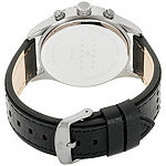 Joseph Abboud Mens Black Leather Strap Watch-Ja3203gy648-271