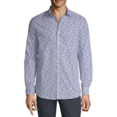 Axist Long Sleeve Floral Button-Front Shirt
