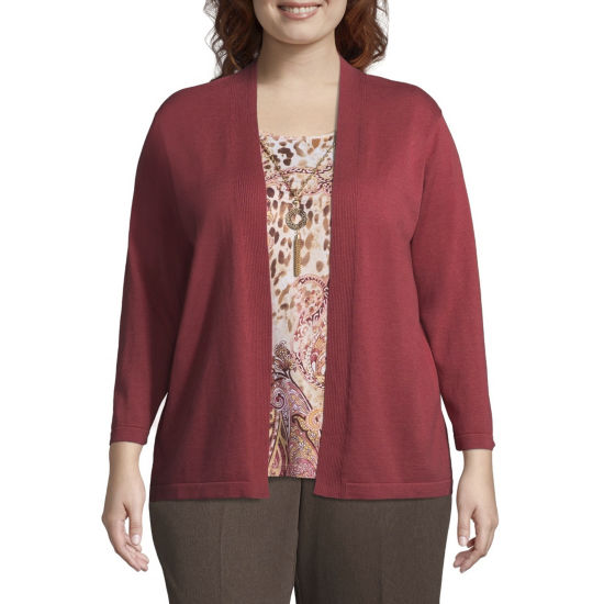 Alfred Dunner Sunset Canyon Paisley Layered Sweater - Plus