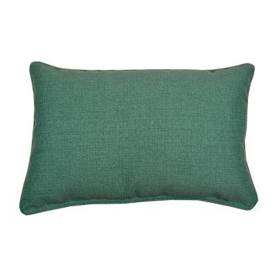 Husk Texture Oblong Corded Outdoor Pillow