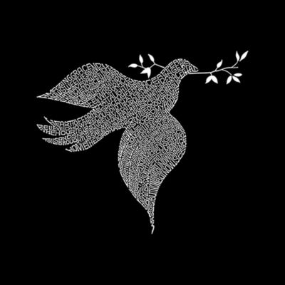 Los Angeles Pop Art Women's Raglan Word Art T-shirt - Dove