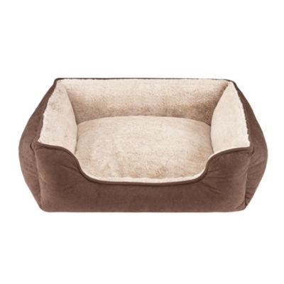 Soft Touch Rectangular Cuddler Pet Bed