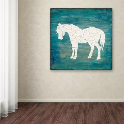 Trademark Fine Art LightBoxJournal Farm Horse Giclee Canvas Art