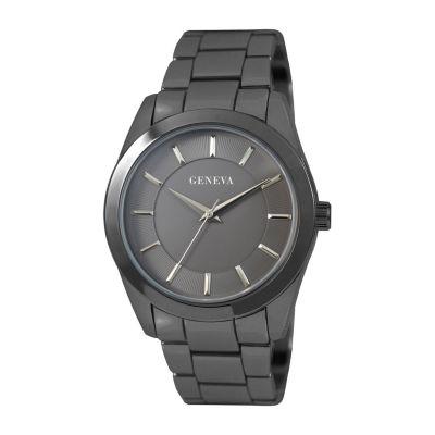 Geneva Mens Silver Tone Bracelet Watch-Jry8147gu