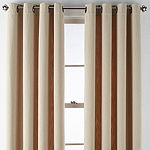 Liz Claiborne Alden Light-Filtering Grommet-Top Single Curtain Panel