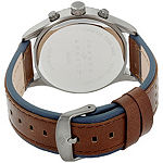 Joseph Abboud Mens Brown Leather Strap Watch-Ja3203gy648-709