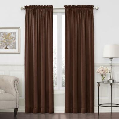 JCPenney Home Hilton Light-Filtering Rod-Pocket Single Curtain Panel