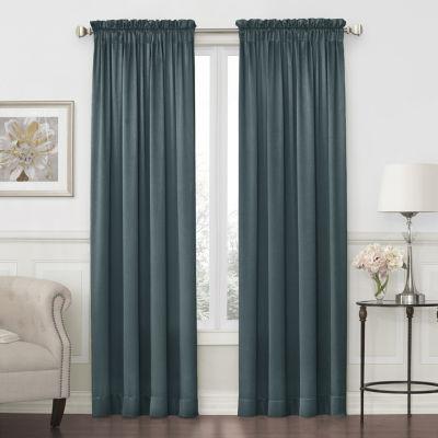 JCPenney Home Hilton Light-Filtering Rod Pocket Single Curtain Panel
