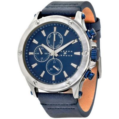 Joseph Abboud Mens Blue Strap Watch-Ja3204s648-024