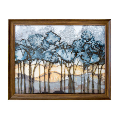 New View Forest Printed Glass Canvas Art