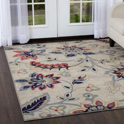 Home Dynamix Tremont Teaneck Floral Rectangular Rug