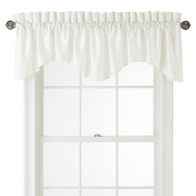 JCPenney Home Supreme Rod-Pocket Scallop Valance