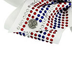 JoJo Swia Signature Red White And Blue Rhinestone Bow