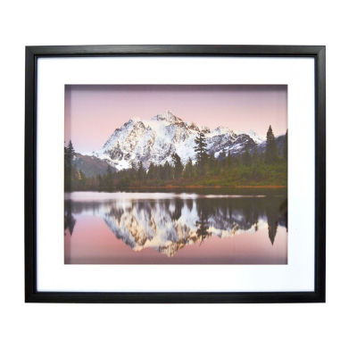 New View Purple Mountains Shadowbox Canvas Art