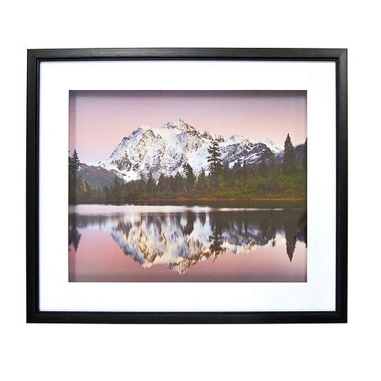 New View Purple Mountains Shadowbox Canvas Art