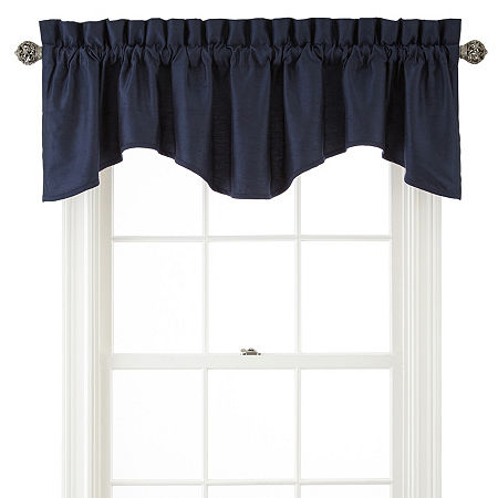 JCPenney Home Supreme Rod-Pocket Scallop Valance, One Size , Blue