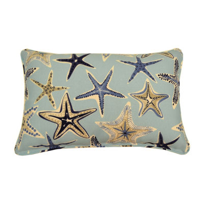 Starfish Oblong Corded Outdoor Pillow