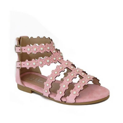 Nicole Miller Little Kid/Big Kid Girls Cindy Adjustable Strap Gladiator Sandals