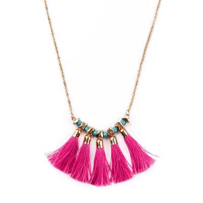 Arizona Womens Brass Strand Necklace