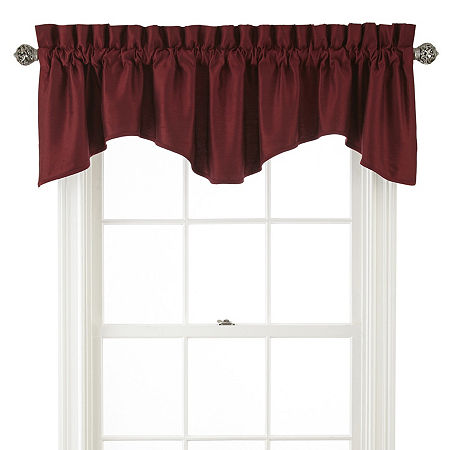 JCPenney Home Supreme Rod-Pocket Scallop Valance, One Size , Red