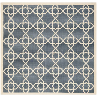 Safavieh Courtyard Collection Nicol Geometric Indoor/Outdoor Square Area Rug