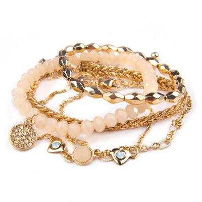 Arizona Womens 5-pc. Multi Color Bracelet Set