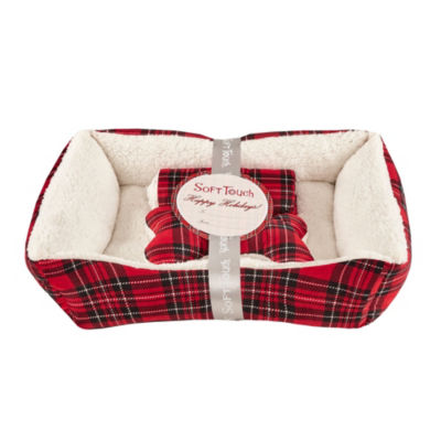 Soft Touch Plaid Pet Bed Set Pet Bed
