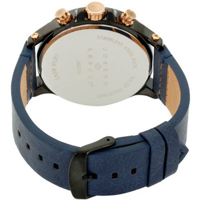 Joseph Abboud Mens Blue Strap Watch-Ja3204bk648-709