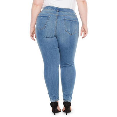 Boutique + Comfort Waist Ripped Skinny Jean - Plus