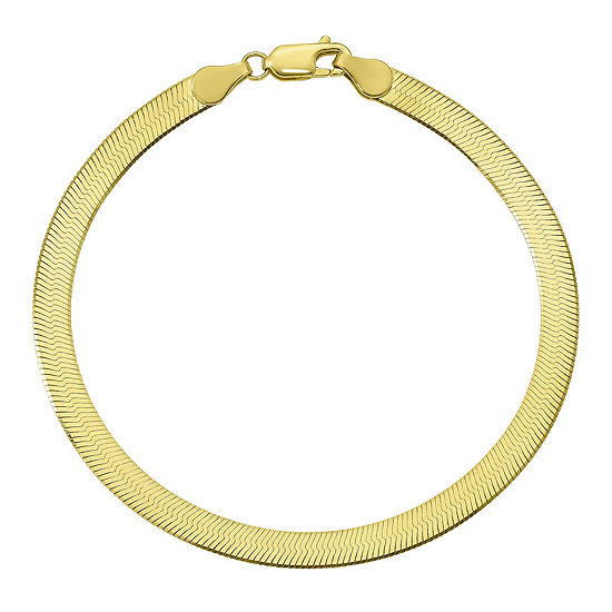 Solid Herringbone Chain Bracelet
