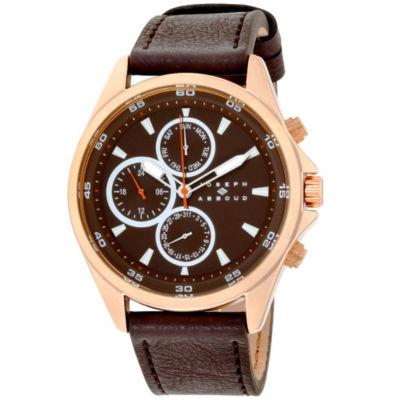 Joseph Abboud Mens Brown Strap Watch-Ja3207rg648-127