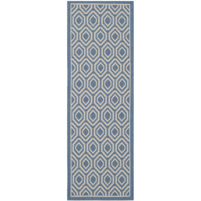 Safavieh Courtyard Collection Carmella Geometric Indoor/Outdoor Runner Rug