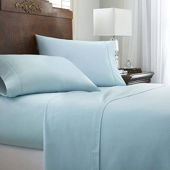 Casual Comfort Premium Ultra Soft Chevron Microfiber Wrinkle Free Sheet Set