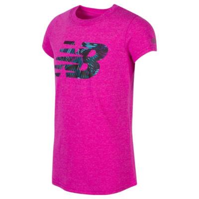 New Balance Short Sleeve Graphic T-Shirt - Girls Preschool