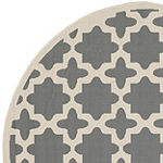 Safavieh Courtyard Collection Bokhara Geometric Indoor/Outdoor Round Area Rug