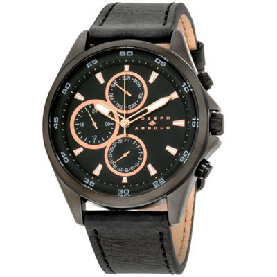 Joseph Abboud Mens Black Strap Watch-Ja3207bk648-362